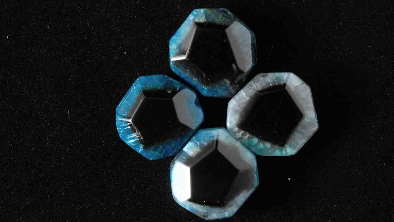 black semi precious stone